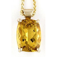 Estate rich yellow topaz baguette diamond wide by bellajewelryshop yellow topaz jewelry for women jupiter yellow topaz pendants for women aloadofball Choice Image