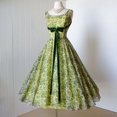 vintage 1950's dress ...gorgeous paisley voile by traven7 on Etsy