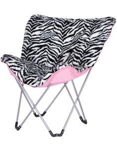 butterfly chairs for teens | Girls Clothing | Chairs | Zebra Print Butterfly Chair | ShopJustice ...