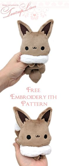 Free Eevee Plushie sewing patterns and ITH machine embroidery patterns - Free E. - Free Eevee Plushie sewing patterns and ITH machine embroidery patterns – Free Eevee Plushie sewing patterns and ITH machine embroidery patterns, – Plushie Patterns, Animal Sewing Patterns, Sewing Patterns Free, Free Sewing, Free Pattern, Pattern Fabric, Softie Pattern, Sewing Toys, Sewing Crafts