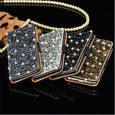 Luxury Bling Crystal Diamond Wallet Flip Card Case Cover For Samsung Grand Prime/Core Prime/J5 2016 - $11.99