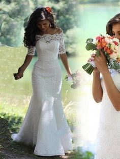 Lace Mermaid Off-the-Shoulder Short Sleeve Wedding Dresses Bridal Gowns. – Crystal & Rose Blossoms Lace Mermaid Off-the-Shoulder Short Sleeve Wedding Dresses Bridal Gowns. Lace Mermaid Off-the-Shoulder Short Sleeve Wedding Dresses Bridal Gowns. 2016 Wedding Dresses, Country Wedding Dresses, Bridal Dresses, Wedding Gowns, Dresses 2016, Curvy Wedding Dresses, Wedding Venues, Cheap Wedding Dress, Sleeved Wedding Dresses