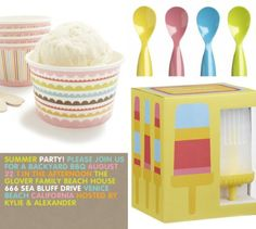 love these ice cream party accessories