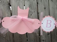 Bailarina bebé ducha bandera - 3D - Tutu Baby Shower, Ballet Baby Shower - es una bandera chica