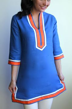 Gainesville Linen Tunic by Guru- in college colors too!