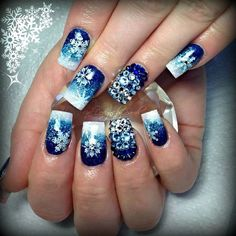snowflakes by sarahp898 #nail #nails #nailart