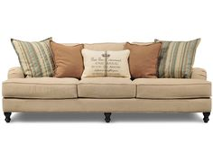 Claremont Sofa from Living Spaces is a cheaper version of Pottery Barns Carlisle Sofa~Raquel