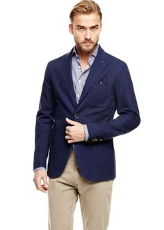 Cotton canvas blazer #SS14