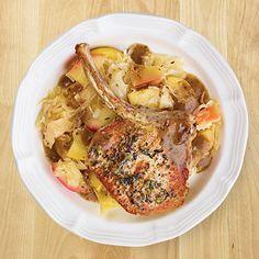 Pork Chops with Sauerkraut & Apples - Wegmans