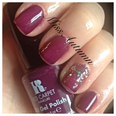 """I'm loving this luscious fall shade by Red Carpet Gel Polish in """"Thank you, thank you""""  #naturalnails #gelnails"""