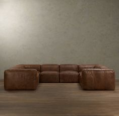 leather sofa that can be used for the media room, this is the numerous seating idea we had    FULHAM LEATHER U-SOFA SECTIONAL  $17595 - $18695 SPECIAL $14955 - $15890