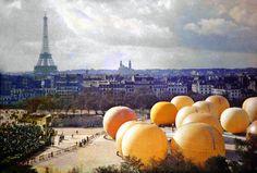 Fotografías en color de París, tomadas entre 1900-1920. Realizadas gracias a un complejo procedimiento llamado placa autocroma, patentado en 1903 por los hermanos Lumière.