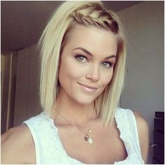 Blonde Short Bob Hairstyles, jagged layers, straight