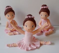 Bailarinas modeladas em biscuit