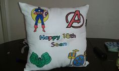 Personalised 18th cushion