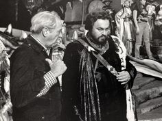 """Luciano Pavarotti and director Franklin Schaffner on the set of """"Yes, Giorgio"""". Falling In Love, Che Guevara, Opera, Music, King, Fictional Characters, Inspiration, Musica, Biblical Inspiration"""