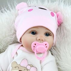 """This reborn dolls wear real baby clothes size""""newborn"""" or """"0-3 month"""". Hair: imported pure mohair, rooted up by hand a needle and a needle, the pores of the hair root is visible, extremely realistic. 