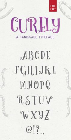 Curely Typeface Font