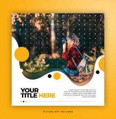 Square Banner Template With Liquid Frame - Square Banner Template With Liquid Frame Square banner template with liquid frame Graphic Design Flyer, Poster Design Layout, Creative Poster Design, Creative Posters, Graphic Design Inspiration, Flyer Design, Web Banner Design, Web Design, Web Banners