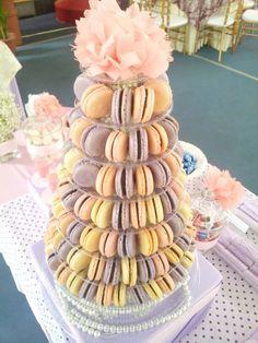 Macaron Tower For a Wedding reception