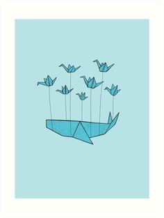 whale origami - Поиск в Google