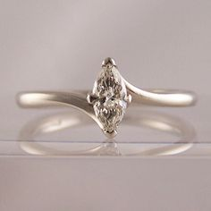 4 claw set crossover marquise - Marquise Cut Engagement Rings - Ring Jewellery