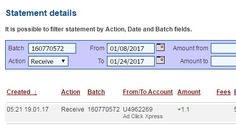 I am getting paid daily at ACX and here is proof of my latest withdrawal.  This is not a scam and I love making money online with Ad Click Xpress.  Join for FREE and get 20$ + 10$ + 5$ Monsoon, Ad and Media value packs from ACX.  My #40 Withdrawal Proof of online income from Ad Click Xpress.