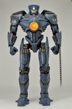 "NECA 18"" Gypsy Danger action figure with light-up chest and headlight."