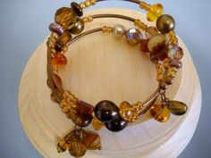 VINTAGE Style Amber and Antique Copper Beaded by Beads4You2008,