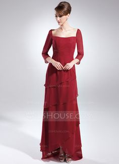 Mother of the Bride Dresses - $132.69 - A-Line/Princess Square Neckline Asymmetrical Chiffon Mother of the Bride Dress With Beading (008015888) http://jjshouse.com/A-Line-Princess-Square-Neckline-Asymmetrical-Chiffon-Mother-Of-The-Bride-Dress-With-Beading-008015888-g15888?ves=wgc4sk&pos=related_products_3