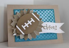 Just Julie B's Stampin' Space: A Perfect Football and a Quick Tutorial!
