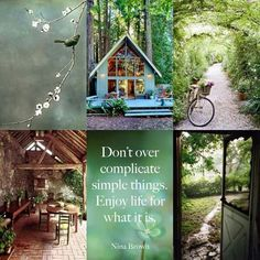Enjoy life for what it is Quote Collage, Word Collage, Color Collage, Beautiful Collage, Beautiful Words, Beautiful Images, Collages, Pot Pourri, Nature Collage