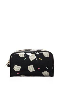 Cake Print Cosmetic Bag