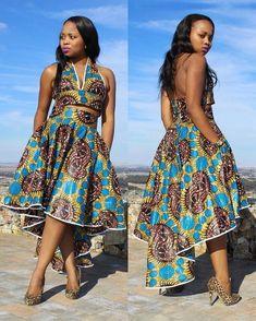 Toiyobonh Halter Top & Skirt ~ African fashion, Ankara, kitenge, Kente, African prints, Braids, Asoebi, Gele, Nigerian wedding, Ghanaian fashion, African wedding ~DKK