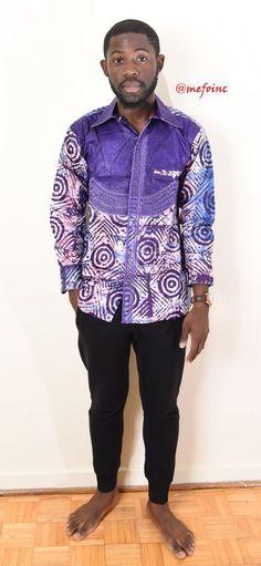 82eb6eb2161 MEN AFRICAN Shirt - PURPLE