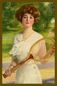 Olde America Antiques | Quilt Blocks | National Parks | Bozeman Montana : Sports - Woman Tennis Player 1