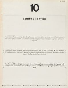 Cover from 1972 issue 10 (Cover Design: Wolfgang Weingart)