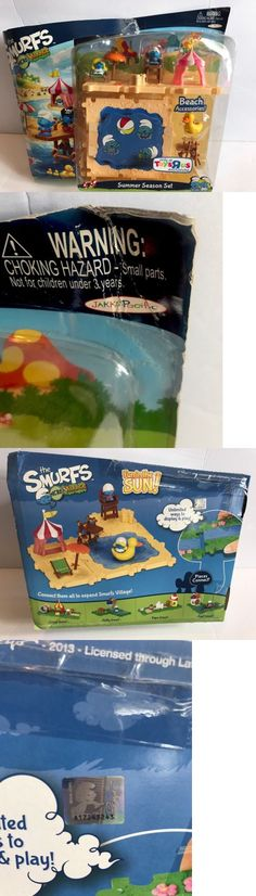 Smurfs 19243: New Peyo The Smurfs Micro Village Summer Season Set Hard To Find Exclusive Beach -> BUY IT NOW ONLY: $65 on eBay!