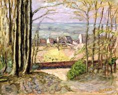 Edge of the Forest, c.1919 (oil on panel) / Pierre Bonnard