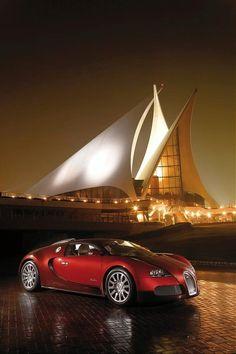 Bugatti Veyron Red - At Dubai