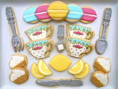 Gorgeous Tea Party Cookies -by Oh Sugar Events