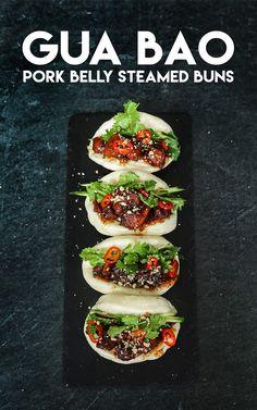 The BEST Gua Bao Pork Belly Steamed Bun Recipe & Video - Seonkyoung Longest Chinese Food, Drinks and Pork Bulgogi Recipe, Riblets Recipe, Bulgogi Sauce, Steam Buns Recipe, Bun Recipe, Fried Shrimp Recipes, Tofu Recipes, Pork Belly Recipes, Korean Recipes