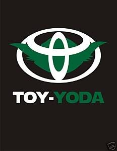 """This is hilarious because when we bought our car, it only said """"yota"""" and we were stoked. The dealership offered to fix it but, we kept it. :)"""