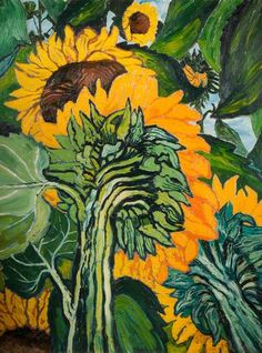 BBC - Your Paintings - Sunflowers- John Randall Bratby