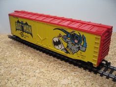 Rare Original Batman DC Comics HO Scale Train Car by Tyco, via Etsy.