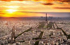 Francia, Francia, París, París, ciudad, torre eiffel, cielo, puesta del sol wallpaper