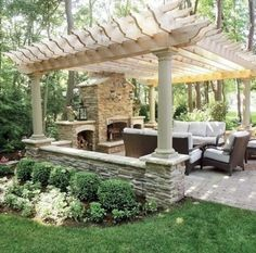 Outdoor seating and pergola
