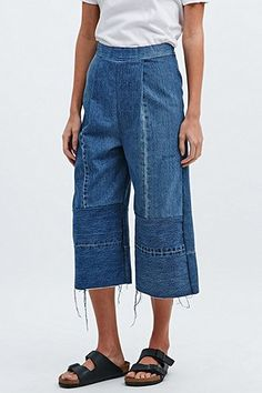 Urban Renewal Vintage Re-Made Denim Culottes - Urban Outfitters