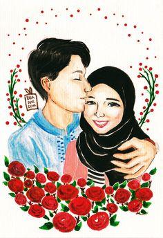 #couple #watercolor #watercolour #romantic