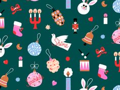 Xmas pattern by Leena Kisonen on Dribbble